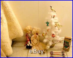 Antique VTG Feather Christmas TREE Ornament glass ornaments DECO RARE