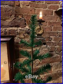 Antique Vintage 21 Goose Feather Christmas Tree