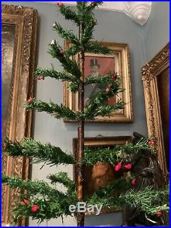 Antique Vintage 32 Goose Feather Christmas Tree
