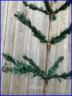 Antique Vintage 36 Goose Feather Christmas Tree Early German