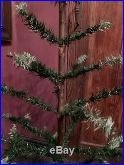 Antique Vintage 44 Goose Feather Christmas Tree