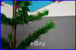 Antique Vintage German Goose Feather Christmas Tree 41 Inch Tall
