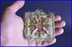 Antique Vintage German Tree Ornament Decor DRESDEN Christmas Handmade