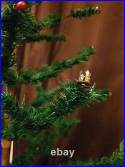 Antique Vintage Holdfast Goose Feather Christmas Tree 45 Tall c/w original box