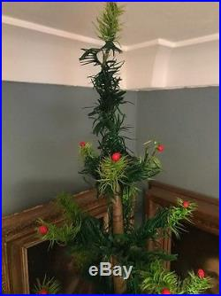 Antique Vintage Large 44 Tall German Goose Feather Christmas Tree