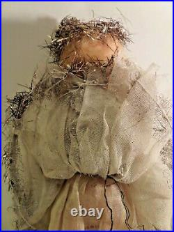 Antique Vintage Old Christmas Tree Fairy Angel Doll Decoration