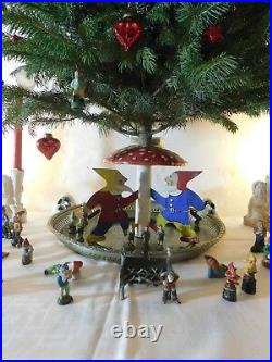 Antique candleholder, Christmas Tree Stand, 3 Gnomes