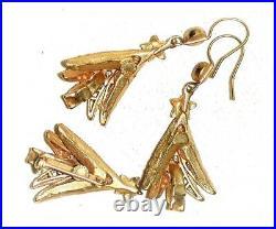 Askew London Vintage Christmas Tree Pin & Earrings Set