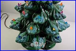 Atlantic Mold 16'' Ceramic Christmas Tree Vintage Snow Ice