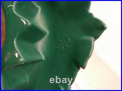 Atlantic Mold 17 Rare Ceramic Poinsetta Christmas Tree No Lights Vintage