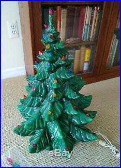 Atlantic Mold Ceramic Christmas Tree Large 24 Vintage 1973