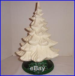 Atlantic Mold Ceramic Christmas Tree with Music Box 16 Vintage Works No Lights