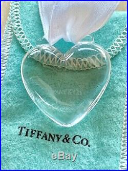 Authentic Tiffany & Co Vintage Small 3D Heart Christmas Tree Or Holiday Ornament