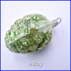 Berry Christmas Tree Ornaments Set 8 Silvered Glass Mica German Vintage