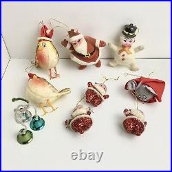 Big Bundle of Antique Vintage Christmas Tree Decorations 30s 40s 50s 60s 70s