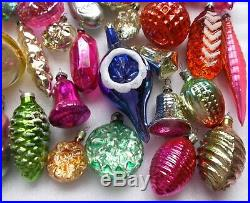Big lot 52 Vintage USSR Glass Russian Christmas Xmas Ornaments Tree Decorations