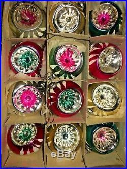 Box 12 Vintage INDENT JAPAN MINI Feather Tree Glass Xmas Ornaments Best