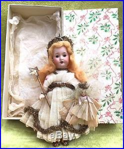 Boxed Antique Vintage German AM Christmas Tree Fairy Angel Doll Decoration