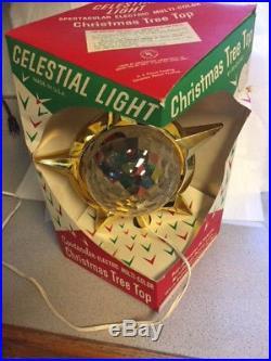 Bradford Celestial Light Vintage Christmas Plastic Tree Top Topper withbox