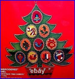 Bucilla CHRISTMAS TREE CAMEOS Wall Hanging Kit-RARE Vintage 2342 Jeweled Panel