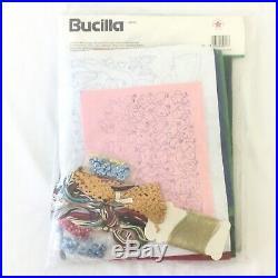 Bucilla Christmas Nativity Felt Tree Skirt Kit VINTAGE 82623 RARE Green Felt