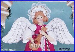 Bucilla VICTORIAN ANGEL Celestial FELT Tree Topper Christmas Kit RARE 82972 Vntg
