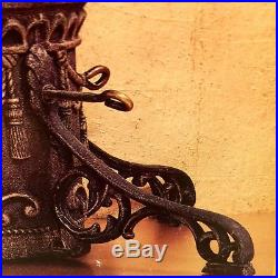 CAST IRON CHRISTMAS TREE STAND Vintage Tradition IN ORIGINAL BOX ORNATE