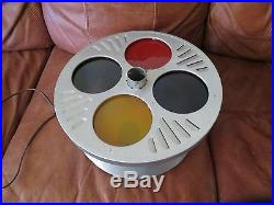 Christmas Tree Stand Color Wheel Lot Evergreen Aluminum Works No Box Vintage Nr