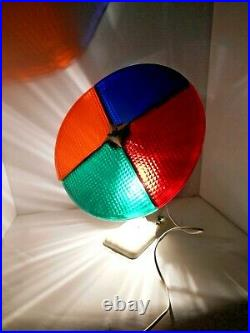 COLOR WHEEL Christmas Tree Motorized Light HOLLY TIME Vintage