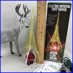 Cathedral MERRY GLOW ROUND Vintage Rotating Christmas Tree Topper C-101