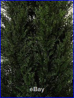 Cedar 7' Outdoor Uv Topiary Tree 84 Artificial Bush Cypress Pine 6 Tower Fake