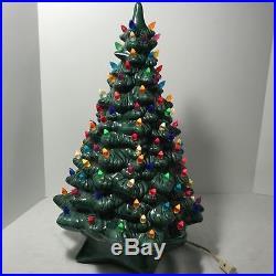 Ceramic Christmas Tree Large 19 inch Vintage