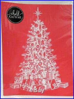 Chalk Couture CHRISTMAS TREE Transfer NEW original vintage tree presents