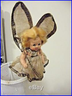 Charming Vintage Antique 50s Roddy fairy Doll Christmas Tree Fairy Angel Topper