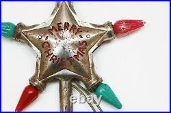 Christmas Star Tree Topper, Vintage Star Light Tree Topper, Merry Christmas Star