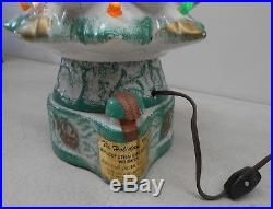 Christmas Tree By Mike Wayne Vintage Holiday Music Box Lighted Decanter Bottle