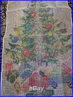 Christmas Tree Gifts Doll Readicut Shillcraft Latch Hook Kit Vintage 50