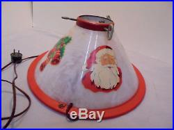 Christmas Tree Light Up Stand, Plastic & Metal Water Cup, 13.75 Across Vintage