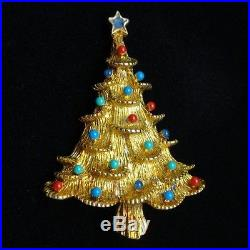Christmas Tree Pin Vintage Xmas Brooch Eisenberg Ice