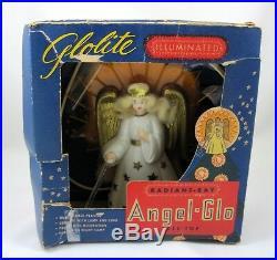 Christmas Tree Top Angel Glo Radiant Ray Glolite Vtg 1940s Illuminated Topper