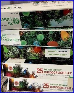 Christmas Tree Vintage Lites Indoor Outdoor Lites 7 Sets 155 Lights Plus Extra