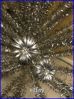 Christmas Vintage Tree 7 Foot Sparkler Pom Pom Evergleam Deluxe 100 Branch