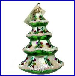 Christopher Radko Christmas WINTER TREE Ornament Vintage 92-101-2 NWT