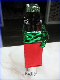 Coca Cola Vintage 6 Pack Style Christmas Tree Topper Nib