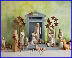 Creche For Nativity Figure Sculpture Hand Painting Willow Tree By Susan Lordi