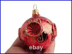 Czech blown glass vintage mercury style Christmas tree decorations baubles (12)