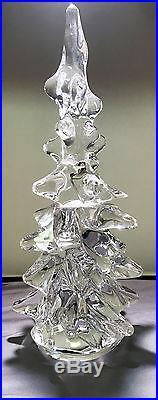 DAUM CRYSTAL FRANCE VINTAGE RARE CHRISTMAS TREE 12 inches tall