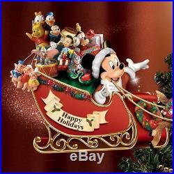 Disney Christmas Tree Topper Mickey Vintage Figurines Animated LED Lights Decor