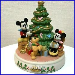 Disney Mickey Mouse Christmas Tree Ceramic Holiday Ornament Vintage