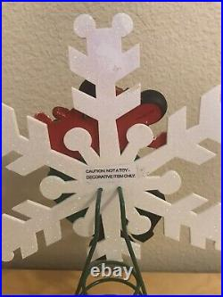 Disney Santa Mickey Mouse Christmas Tree Topper Snowflake Holiday Vintage Wdw